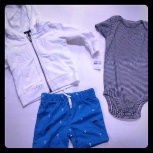 NWT 3 piece carters outfit size 9 months